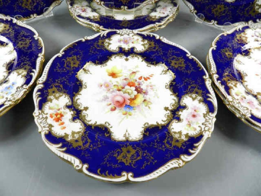 Eleven Old Coalport Dinner Plates - 2