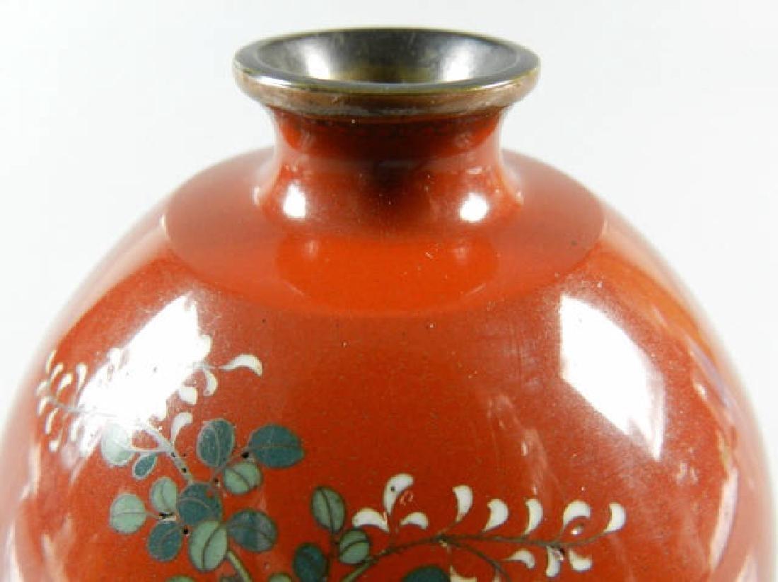 19th Century Cloisonne Vase - 4