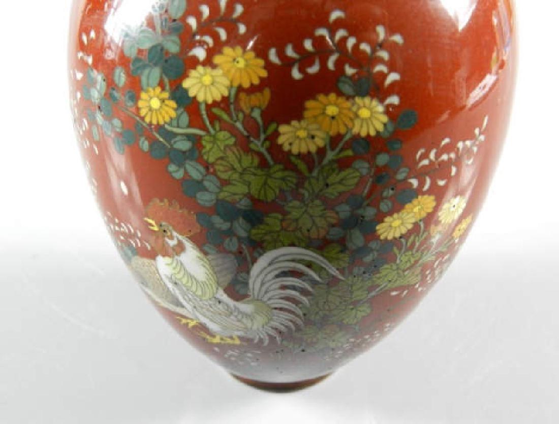 19th Century Cloisonne Vase - 5