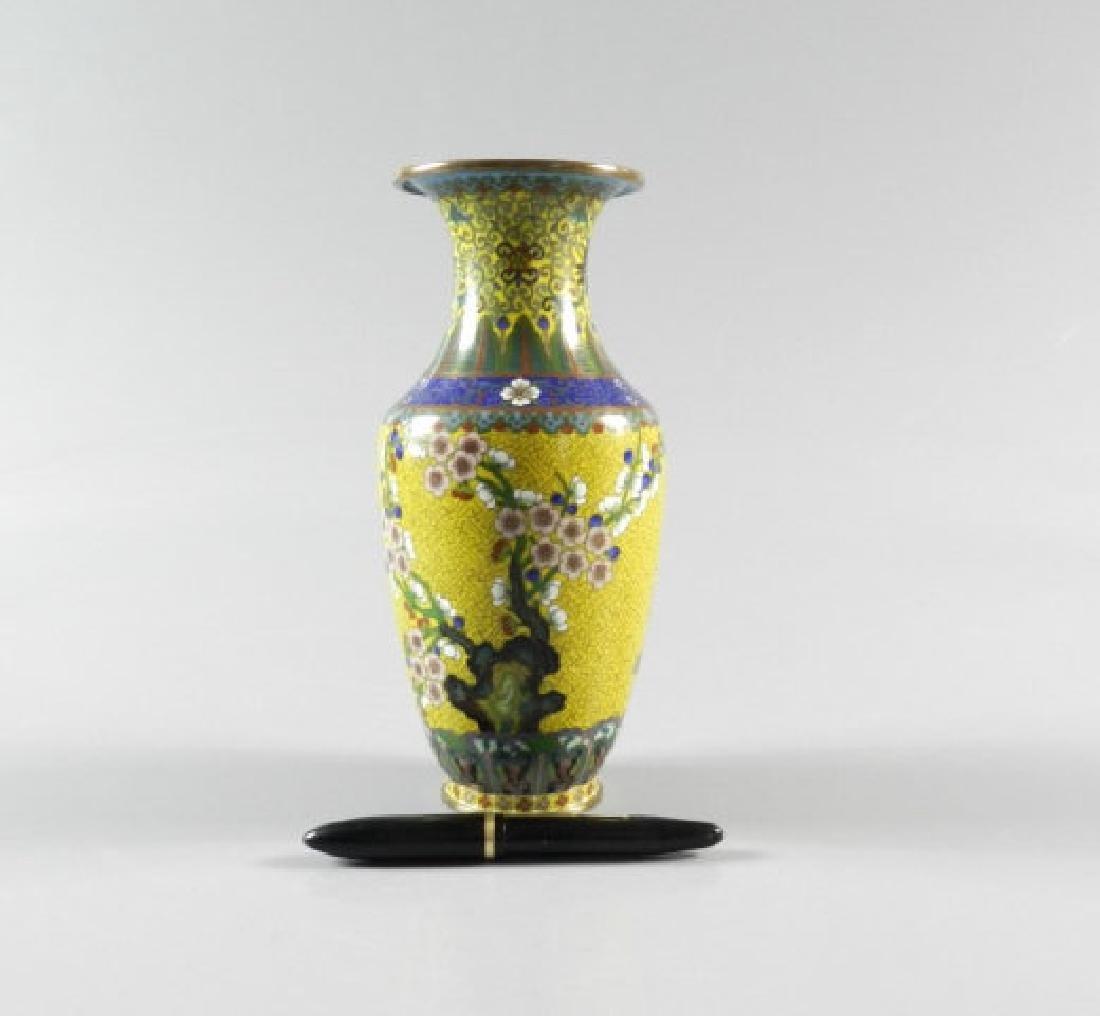 Chinese Cloisonne Vase - 2