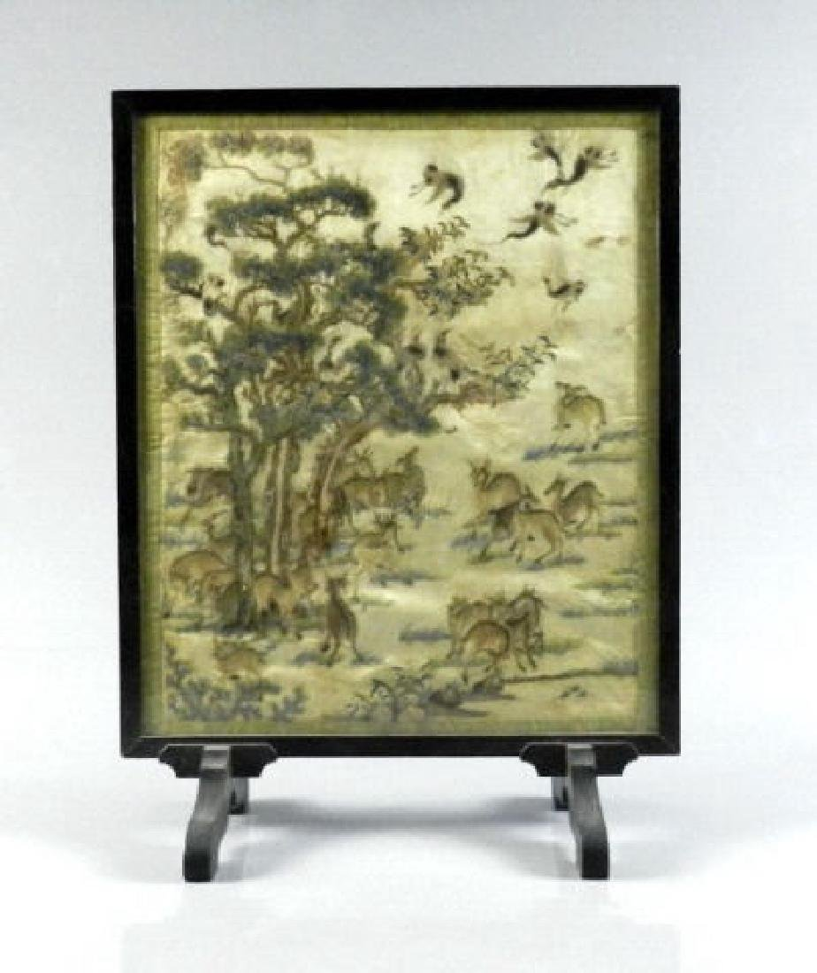 Mid-19th Century Chinese Silk Embroidery