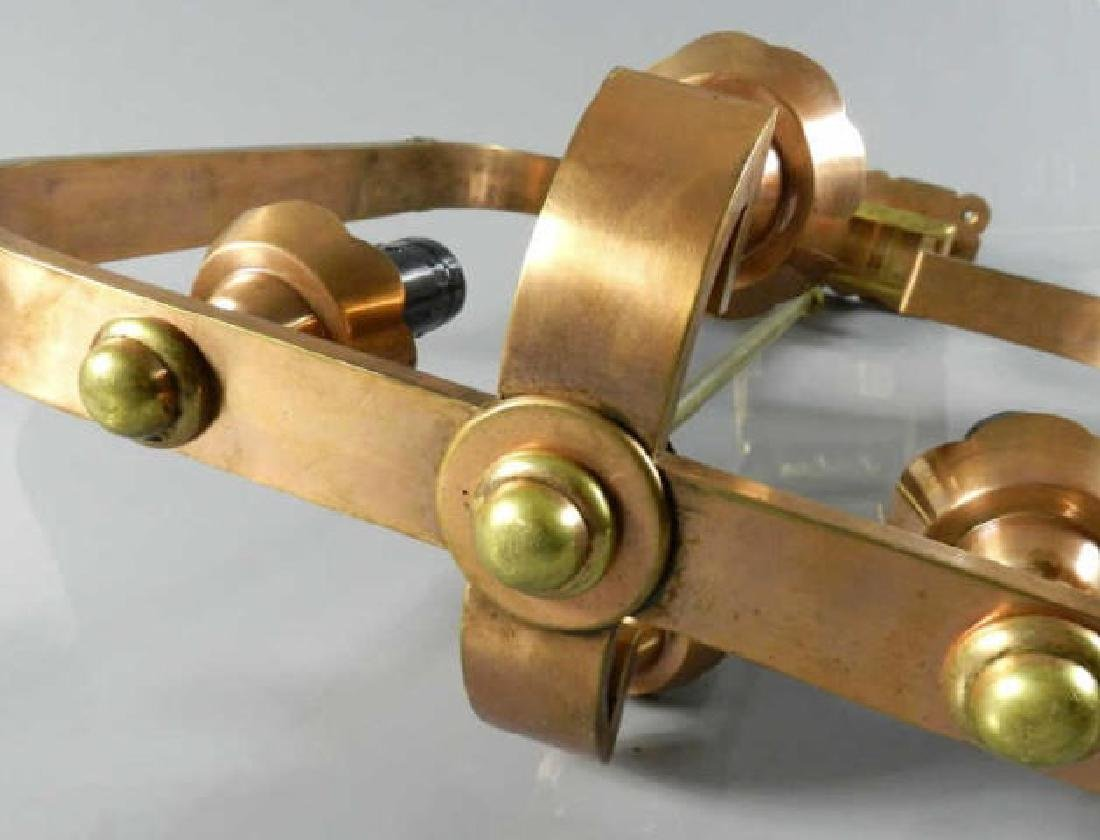 Pair of Art Deco Copper & Brass Ceiling Fixtures - 6
