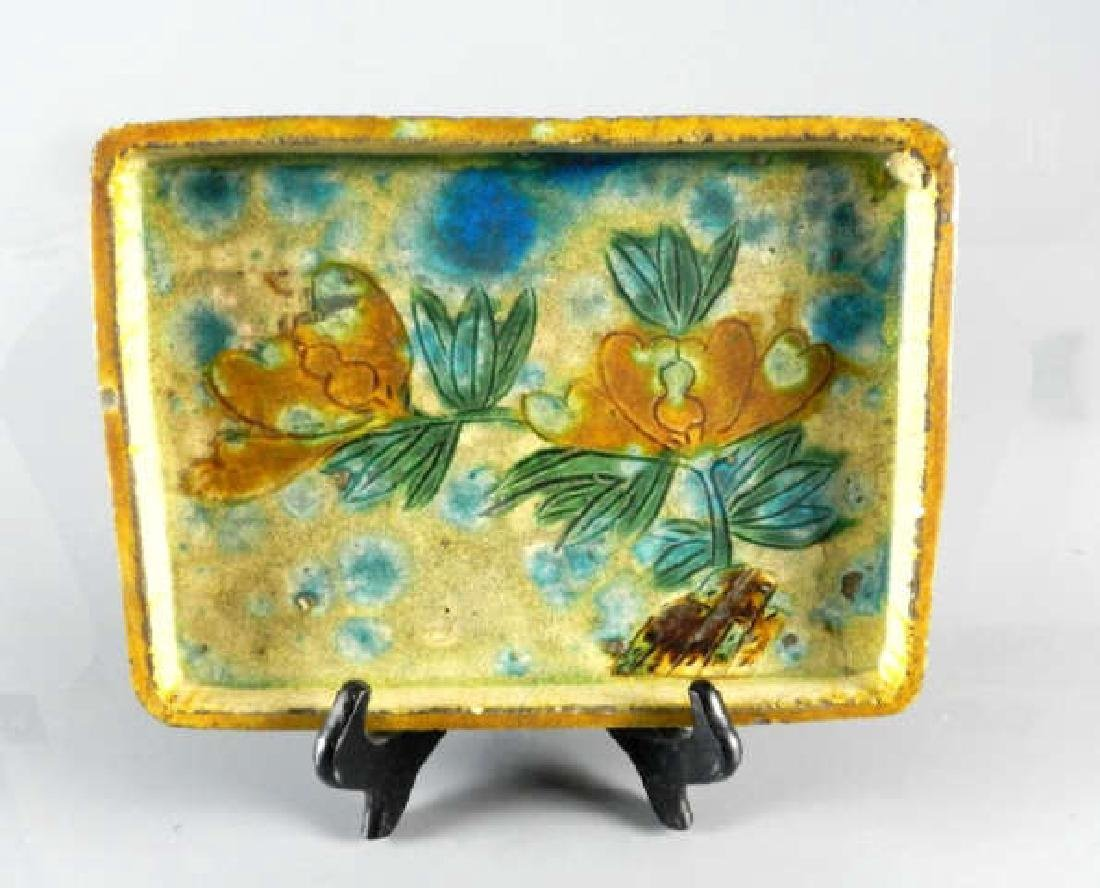 A Chinese Ming Dynasty 16th C. Glazed Tray