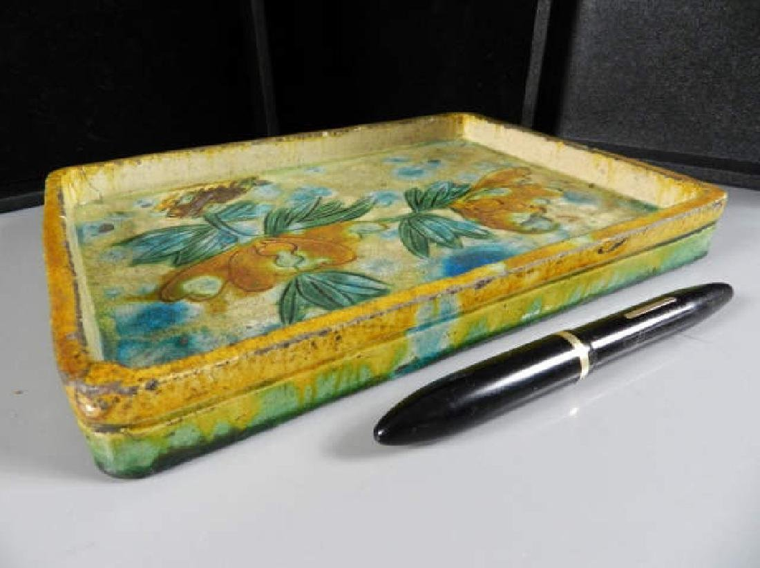 A Chinese Ming Dynasty 16th C. Glazed Tray - 2