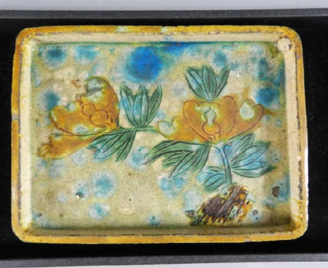 A Chinese Ming Dynasty 16th C. Glazed Tray - 5