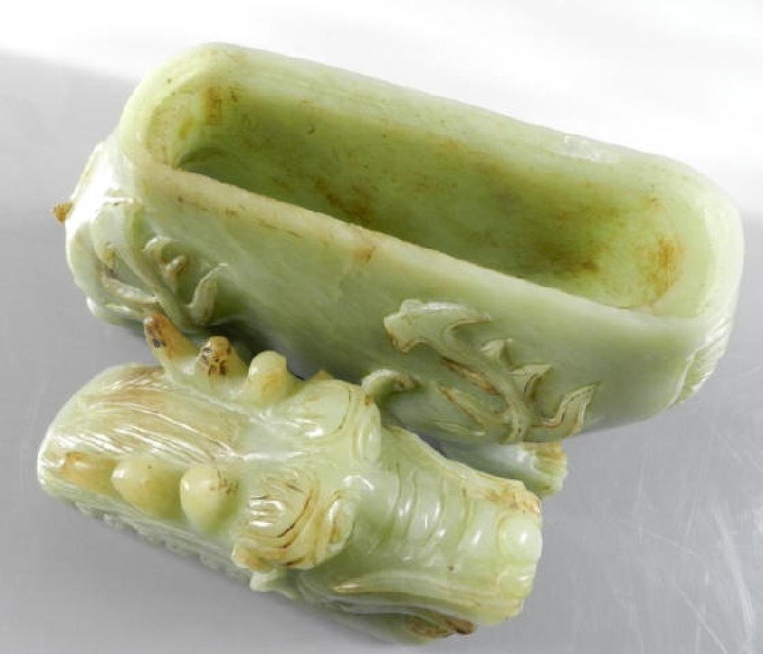 Chinese Hard Stone Carving Of Incense Burner - 5