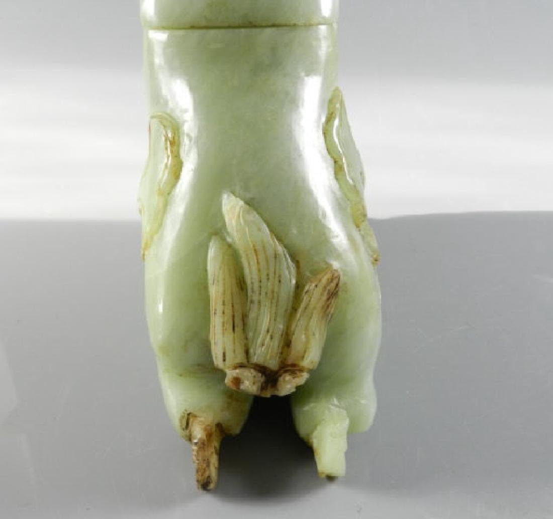 Chinese Hard Stone Carving Of Incense Burner - 7