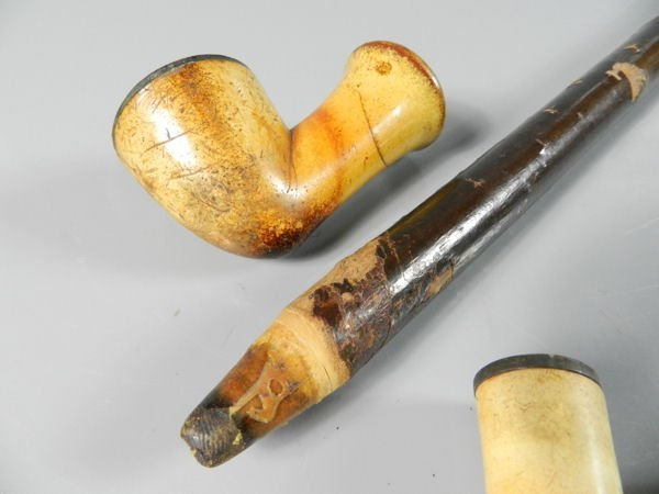 Four Pipes & Two Cigarette Holders - 4