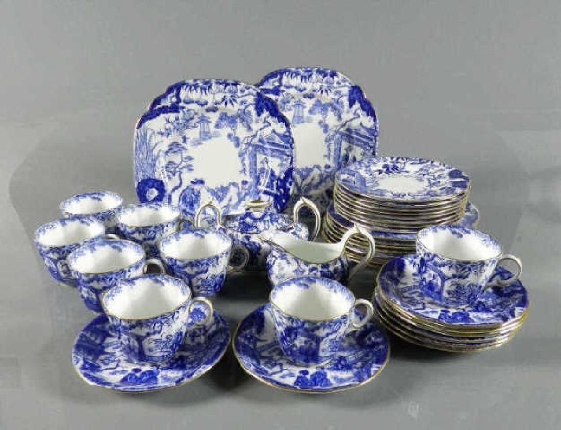 Partial Set Royal Crown Derby Blue Mikado
