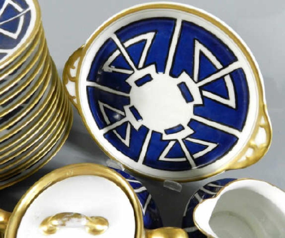 Partial Service Art Nouveau Design Dishes - 6