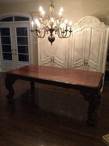 Large & Exceptional Rosewood Desk / Piano Table