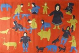 INUIT ART  WALL HANGING BAKER LAKE C 1970