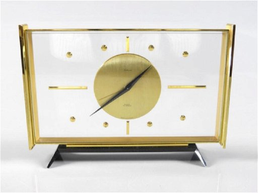 MID-CENTURY MODERN TURLER SWISS MADE DESK CLOCK