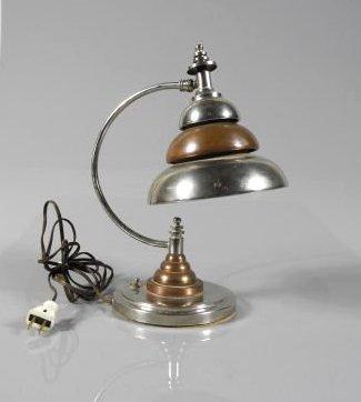 ART DECO PERIOD METAL TABLE LAMP CIRCA 1935