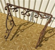 WROUGHT IRON CONSOLE TABLE FRAME