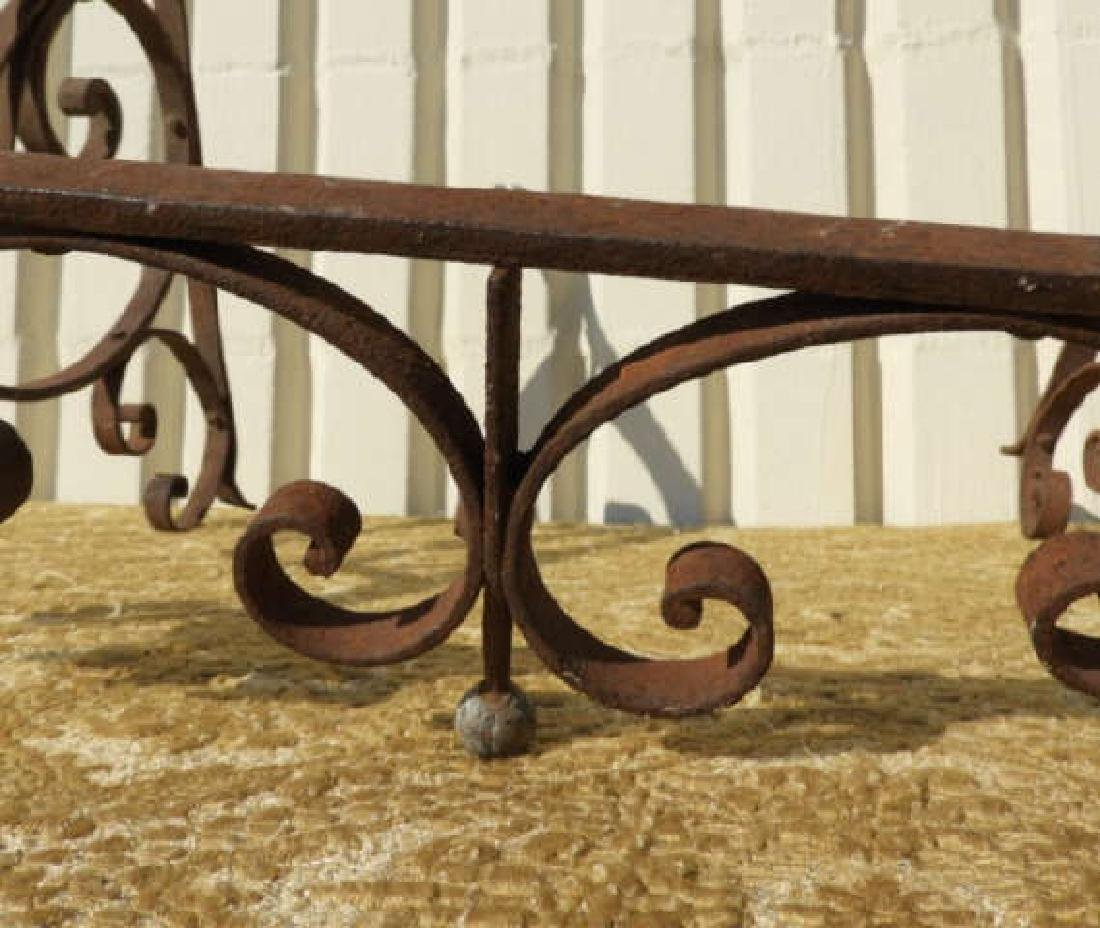 WROUGHT IRON CONSOLE TABLE FRAME - 2
