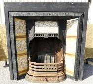 AESTHETIC MOVEMENT CAST IRON FIREPLACE MANTLE