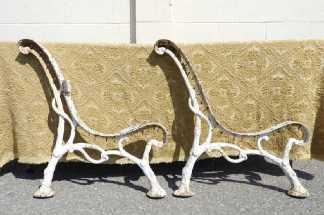 PAIR OF FRENCH ART NOUVEAU BENCH SUPPORTS
