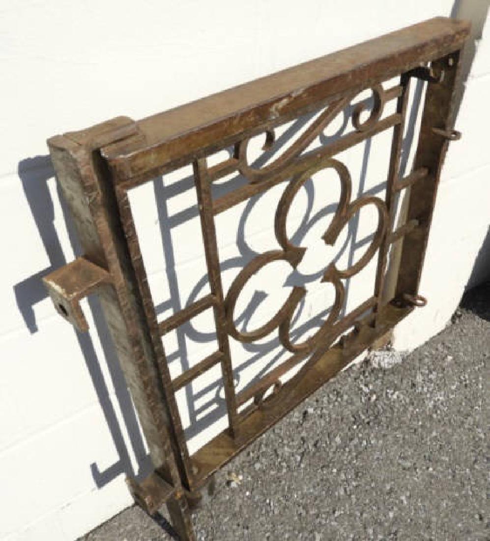 CAST IRON GATE & POST - 2