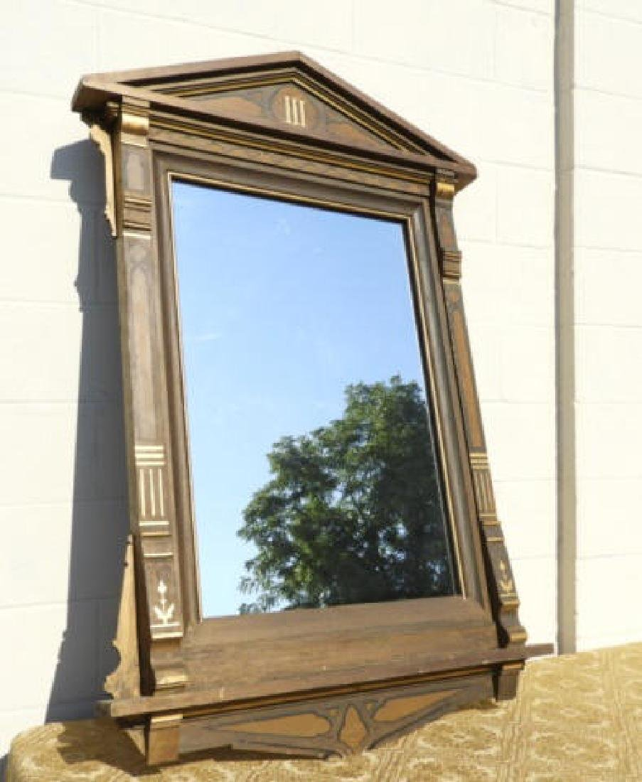 GILT PAINTED WOODEN FRAMED MIRROR