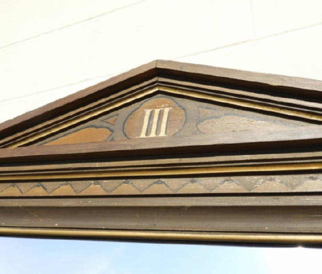 GILT PAINTED WOODEN FRAMED MIRROR - 3