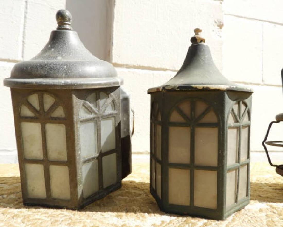 TWO ARTS & CRAFTS COPPER SCONCES & OTHERS - 2