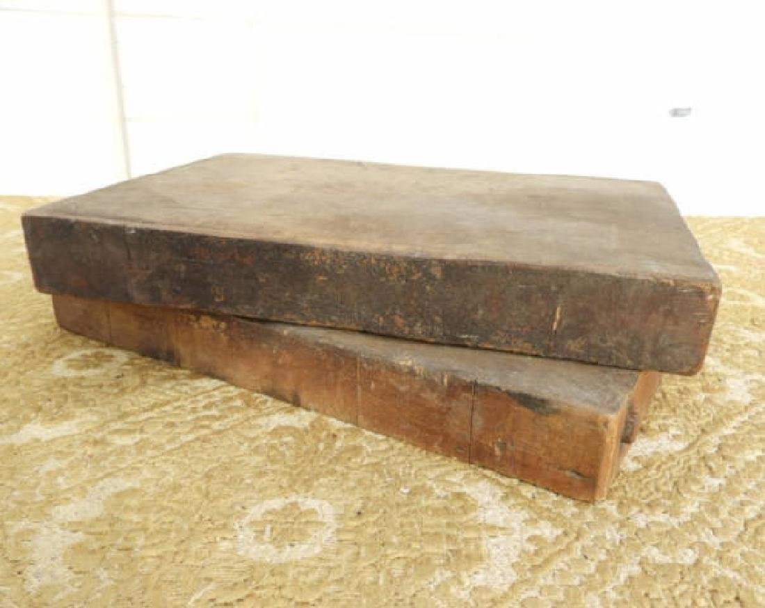 TWO TOBACCO CUTTING BOARDS