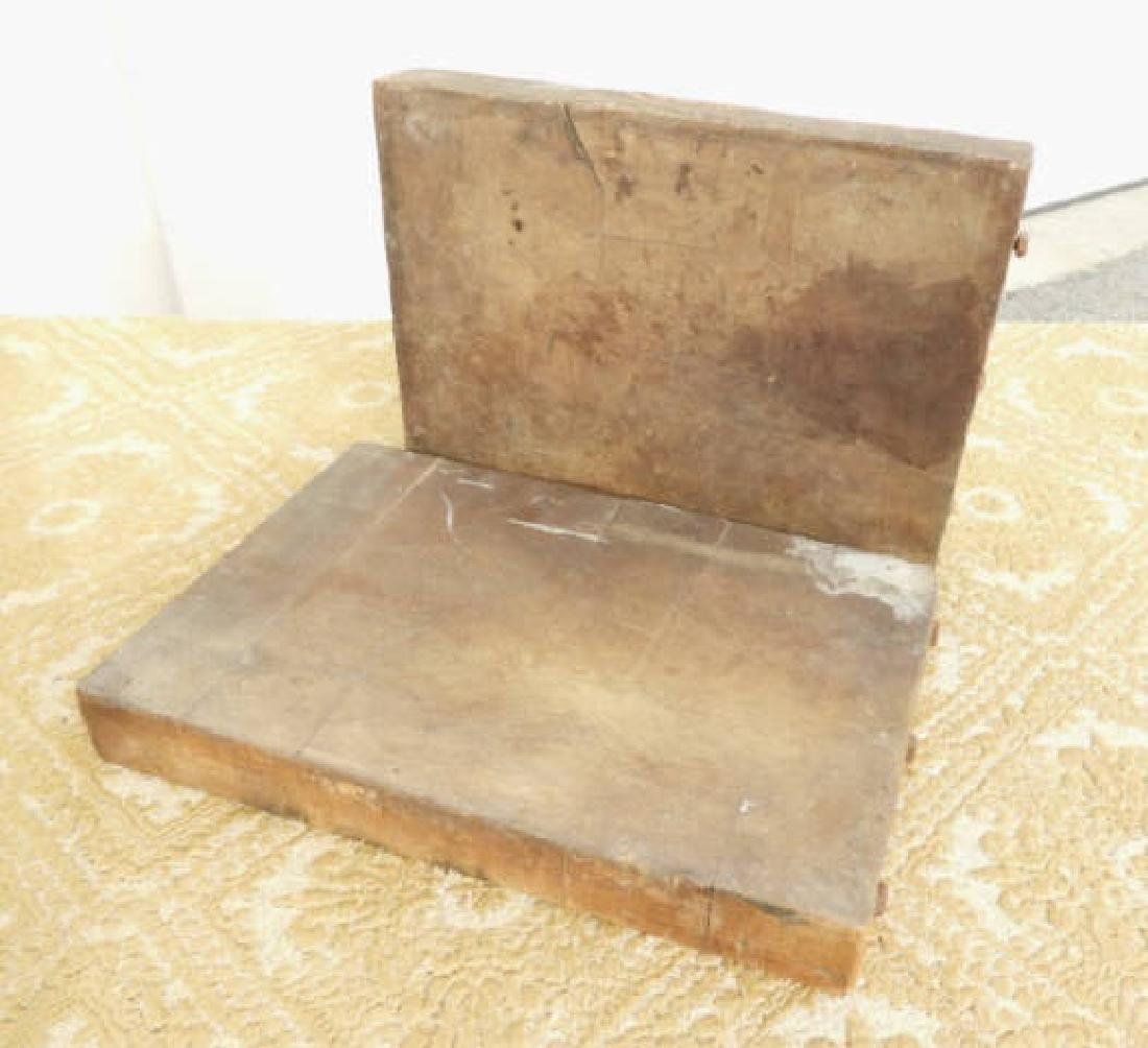 TWO TOBACCO CUTTING BOARDS - 2