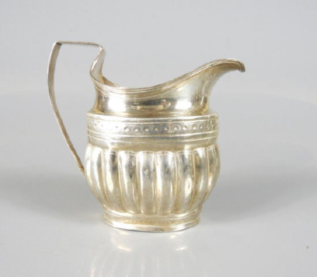 GEORGE III SILVER CREAM PITCHER