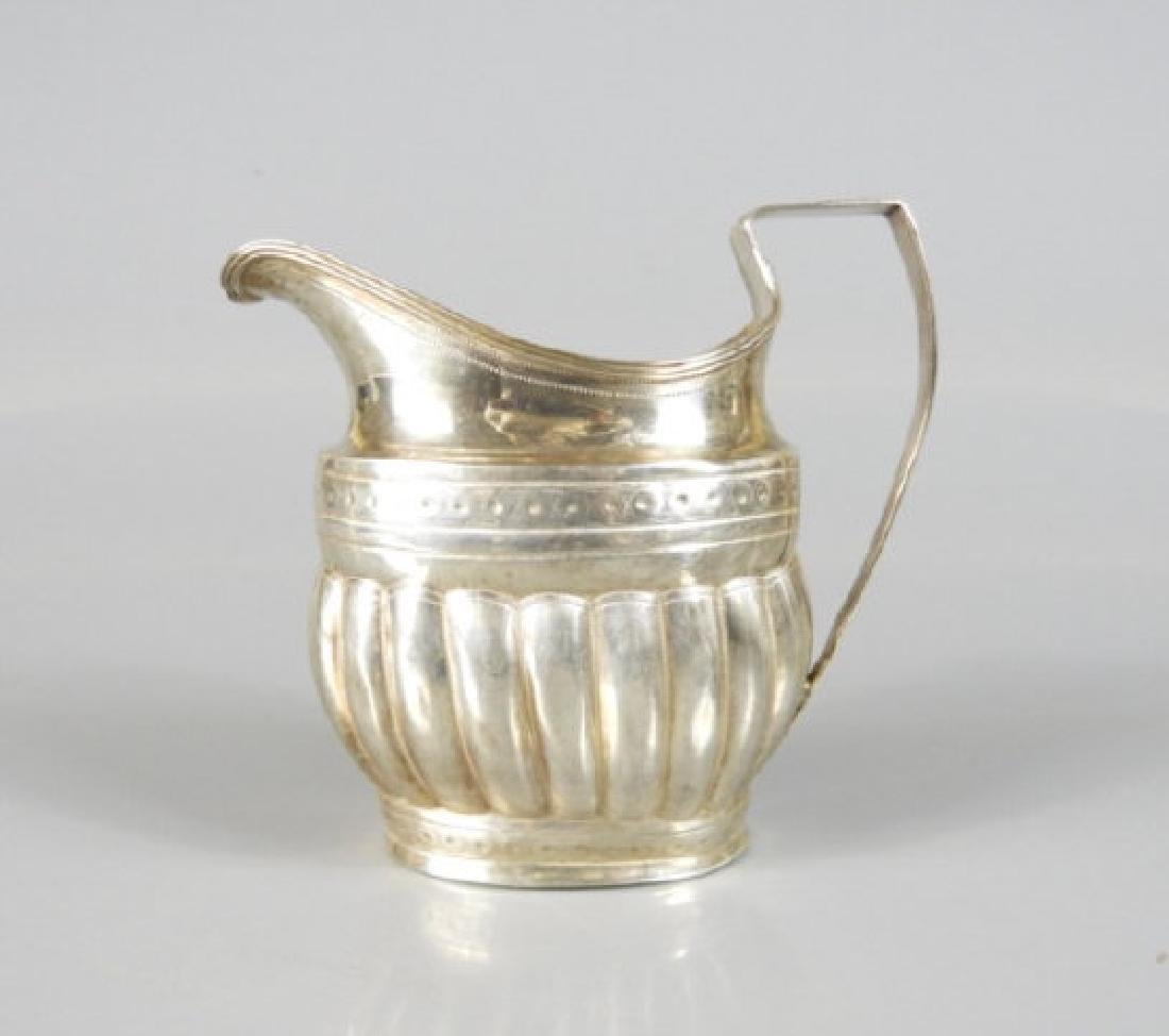 GEORGE III SILVER CREAM PITCHER - 2