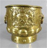 DUTCH BRASS WINE COOLER C. 1770