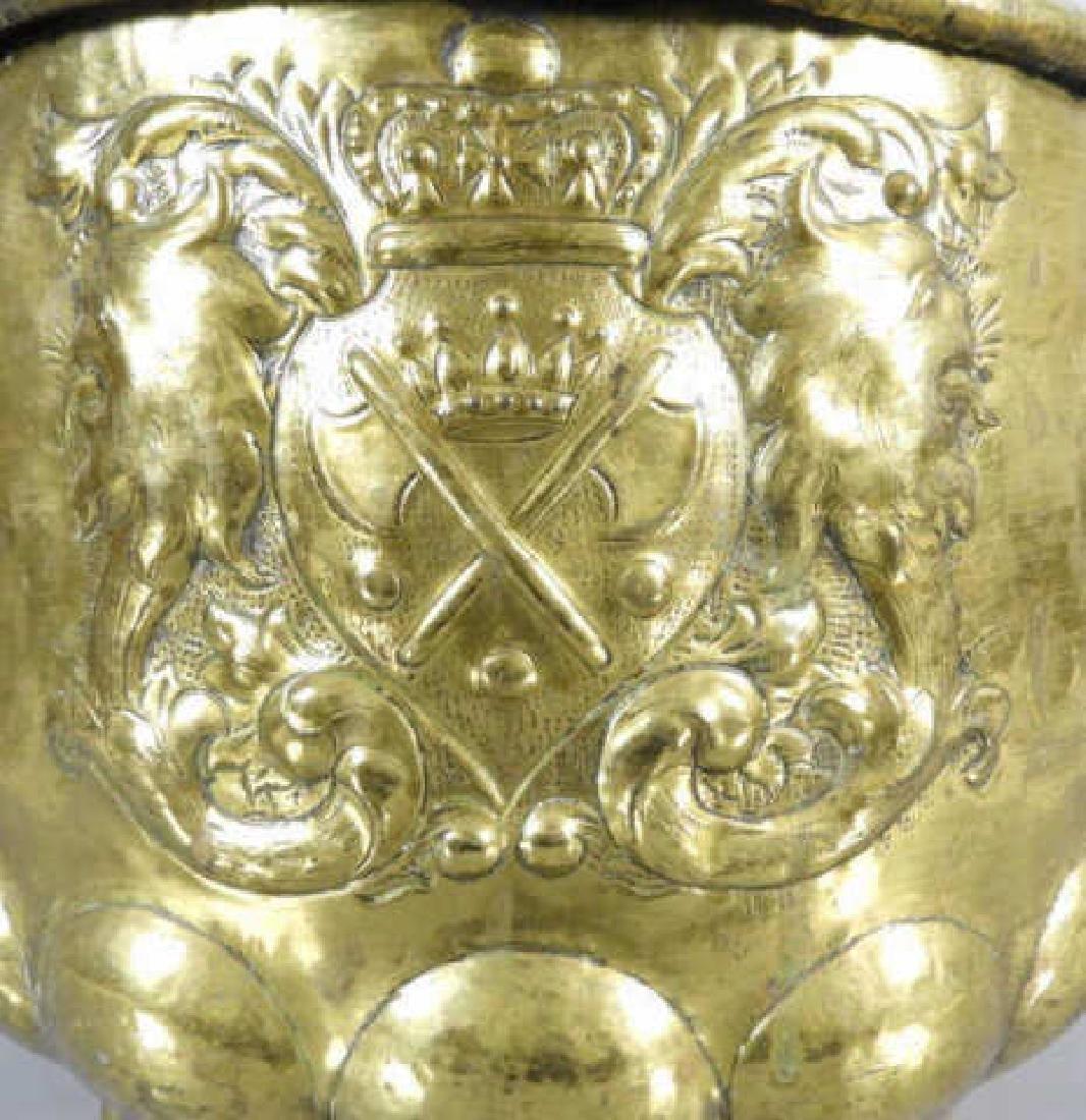 DUTCH BRASS WINE COOLER C. 1770 - 3