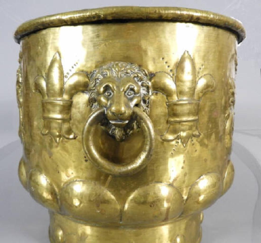 DUTCH BRASS WINE COOLER C. 1770 - 4