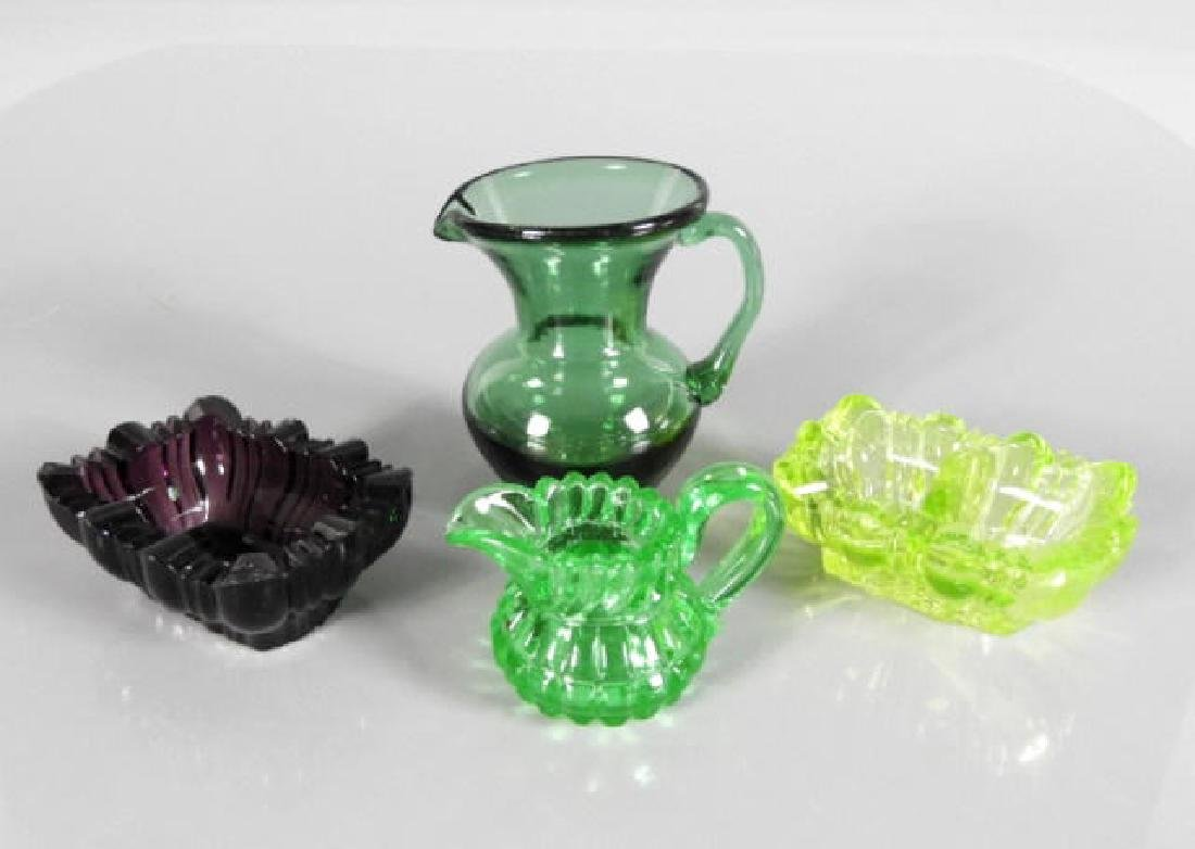AMERICAN MOULDED COLOURED GLASS