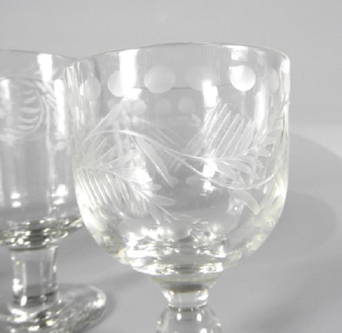 VICTORIAN WINE GLASSES - 3