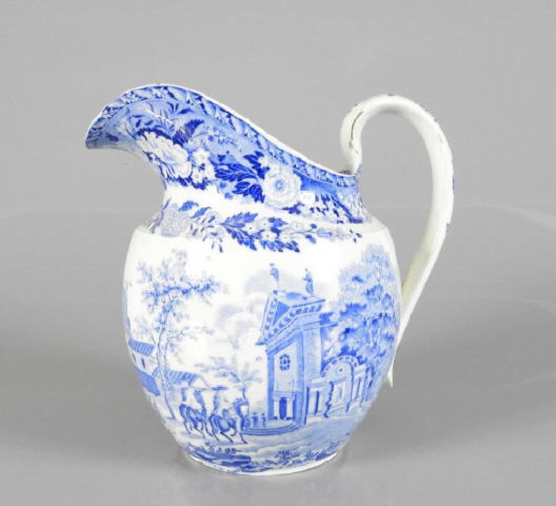 EARLY 19TH C. BLUE & WHITE SPODE PITCHER