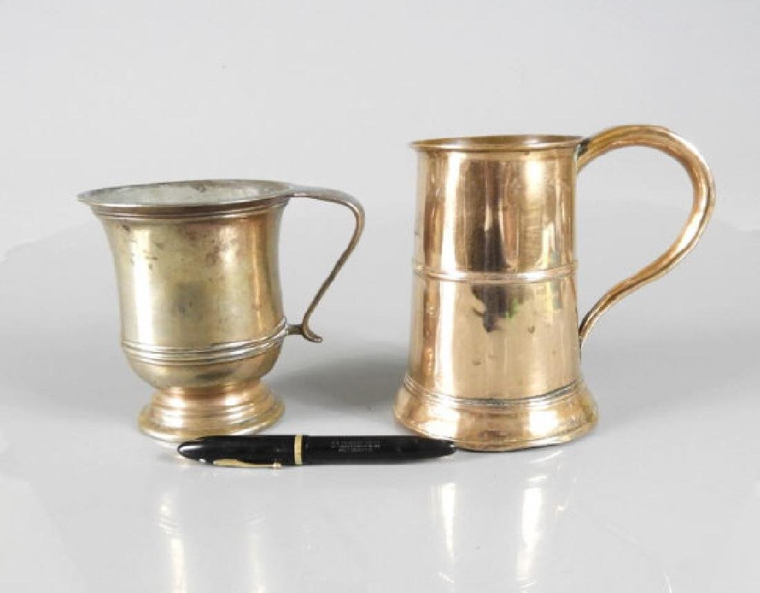 GEORGIAN PERIOD METAL MUG & EARLY COPPER ALE MUG - 2