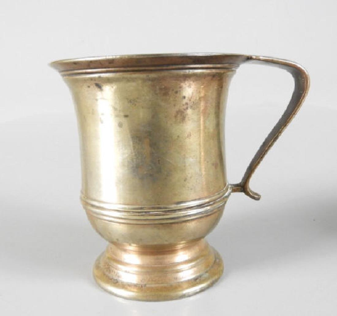 GEORGIAN PERIOD METAL MUG & EARLY COPPER ALE MUG - 3