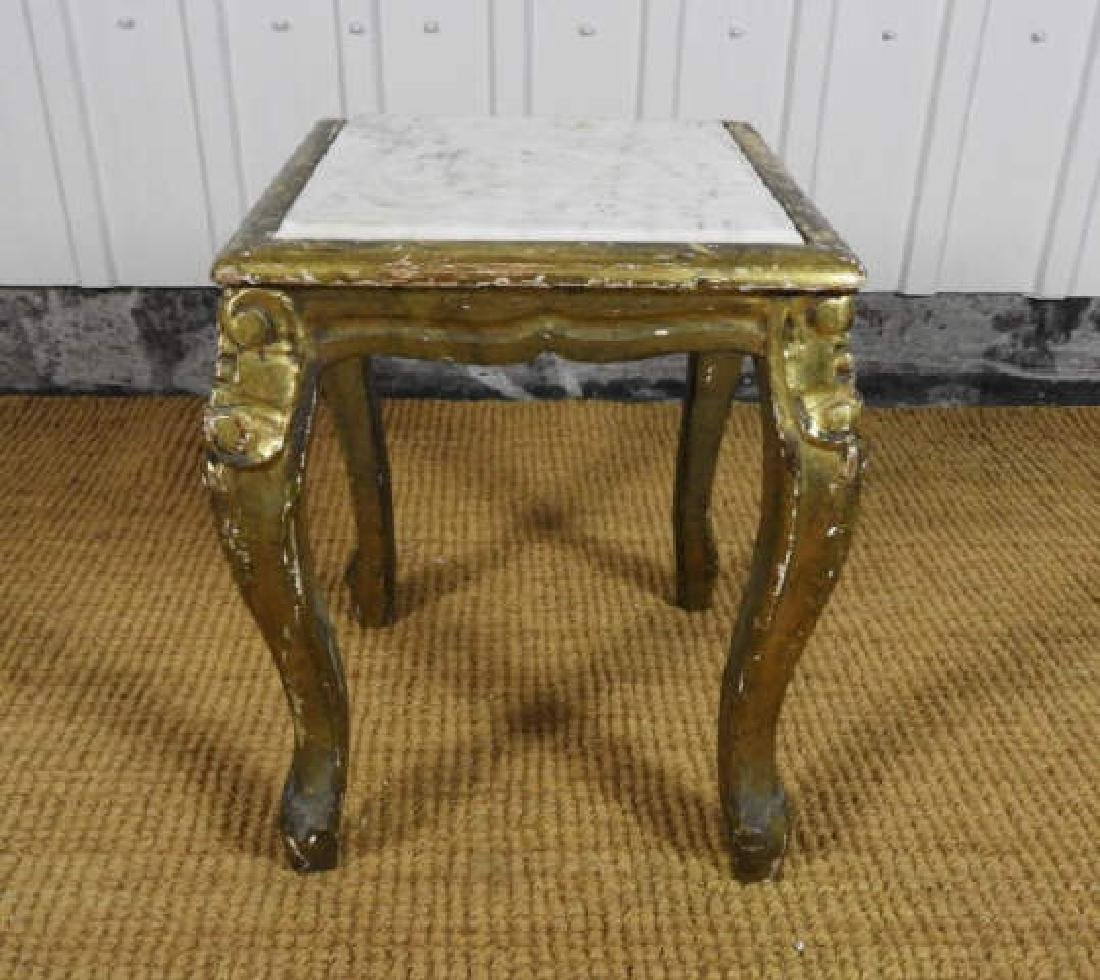 ANTIQUE LOUIS XV STYLE GILT WOOD STAND