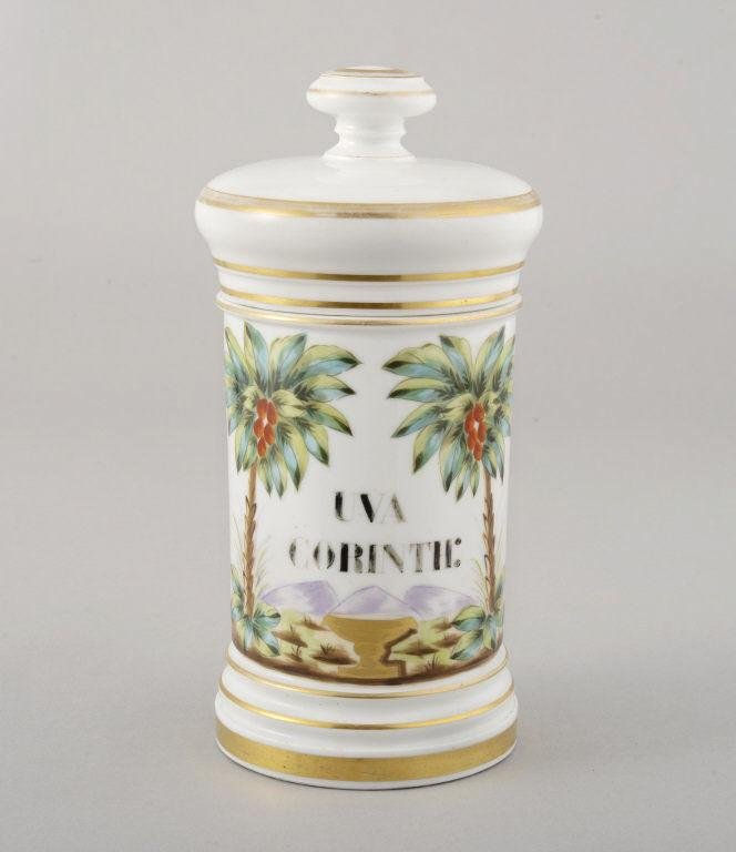FRENCH PORCELAIN APOTHECARY JAR