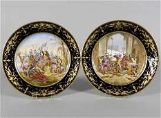 PAIR OF SEVRES CABINET PLATES