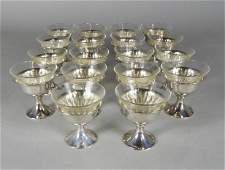 AG SCHULTZ  CO STERLING  SHERBET CUPS