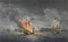 Important Engraving, Louisbourg, Dated 1771