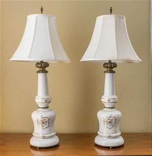 """French """"Porcelain de Paris"""" Table Lamps"""