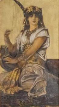 Gouache, Portrait of an Egyptian Woman