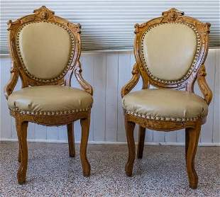Two Victorian Egyptian Revival Chairs