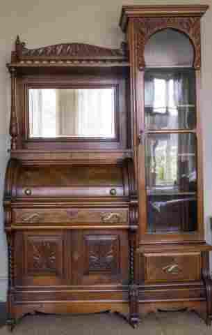 Late Victorian Secrétaire Bookcase