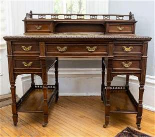Late Victorian Mahogany Writing Desk