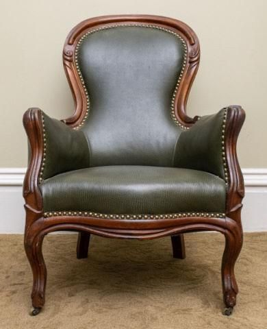 Mid-Victorian Walnut Armchair