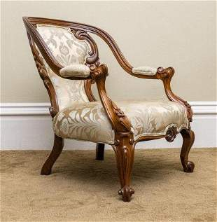 Late Victorian Open Armchair